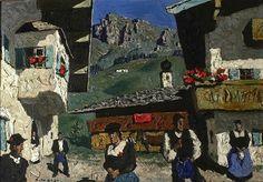 Alfons Walde (Austrian, 1891-1958), Dorfsommer (Oberndorf in Tirol) 1938