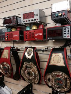 Boxing Gym Timers, Wall Clocks and Title Belts by Ampro available at www.sugarrays.co.uk
