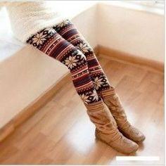 Fall fashion 2013 print leggings! So cute! Wish I could.wear these..