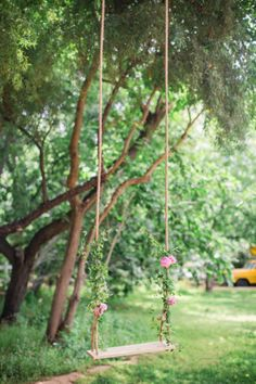 Garden wedding swing