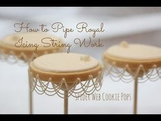{Video} How to Do Basic Royal Icing Stringwork (Sweetopia). Just amazing.