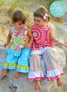 Design-your-own custom outfit for your sweet girl with Lila & G!  Choose your style, fabrics, and design details.