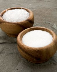 Sea Salt in bowls and for cleaning