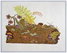 """""""LOG"""" Woodcut Print, Woodblock Print by Tugboat Printshop"""