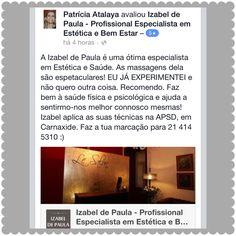 REDES SOCIAIS   Todas as dicas de Beleza com Saúde estão disponíveis no instagram Izabel de Paula oficial, no YouTube izabel de Paula sic mulher, página do facebook Izabel de Paula Profissional.Beijinhos a todos até breve❤️