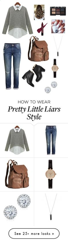Spencer Hastings Pretty Little Liars Set 2 by sophiateixeiraanderson on Polyvore featuring HM, Paul Andrew, Barbour, NARS Cosmetics, Karen Kane and Kobelli