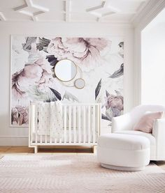 Pottery Barn Kids New Modern Baby Collection 2018 - - Think cool nursery furniture doesn't exist? Think again. Pottery Barn Kids just launched the chicest baby decor collection—and we low key want everything from it, too. Pottery Barn Kids, Pottery Barn Nursery, Pottery Barn Wall Art, Pottery Barn Bedrooms, Baby Bedroom, Baby Room Decor, Girls Bedroom, Room Baby, Baby Room Wall Decor