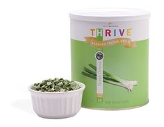 THRIVE™ Green Onions give the perfect finishing touch to rice dishes, soups, or steak. These tasty morsels are chopped and freeze dried, so you don't have to worry about spoiling or spend valuable time chopping. Their extended shelf life (about 25 years) means you'll always have a great garnish on hand. With THRIVE Green Onions, it's easy to sprinkle savory flavor into all your favorite dishes. #FoodStorage #ThriveLife #HomeStore #EmergencyPreparedness