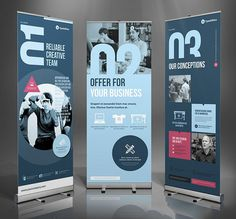 Best Roll Up Banner Mockups and Templates 2018 Rollup Design, Rollup Banner Design, Bunting Design, Web Banner Design, Web Banners, Brochure Design, Flyer Design, Template Web, Templates