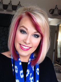 Hair. Pravana. Colorful. Peekaboo. Blonde. Wild orchid. Color of the year. Makeup. Hair color.