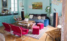 Colourful Paris apartment via Inside Closet gravityhomeblog.com - instagram - pinterest - bloglovin