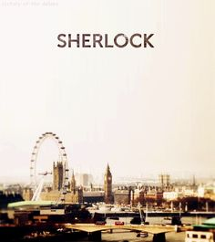 sherlock intro gif. Looks like a scene from Divergent with the Ferris wheel in the background.