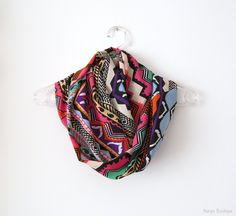 Colorful Geometric Pattern Infinity Scarf  Circle by naryaboutique, $15.00
