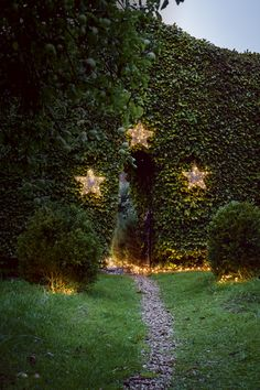Show guests the way to your home with decorative lights. Homes & Gardens. Words and direction Arabella St John Parker, styling Sophie Martell, photographs Ben Anders. http://www.hglivingbeautifully.com/2015/12/07/how-to-make-the-outside-of-your-home-look-as-jolly-as-the-inside-this-christmas-2/