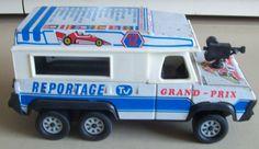 TV television film camera vehicle truck Grand-Prix 1970s French Joustra tinplate | eBay