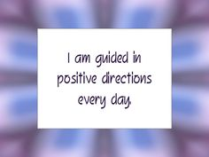 Daily Affirmation for October 18, 2013