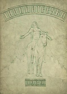"""The cover of the 1939 """"Thronateeska"""" of Albany High School in Albany, Georgia.    #1939 #Thronateeska #yearbook #yearbookCover #Albany"""