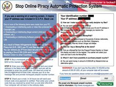 SOPA Ransomware (Stop Online Piracy Automatic Protection System ransomware message) is a fictitious message that comes in the form of a popup alert...