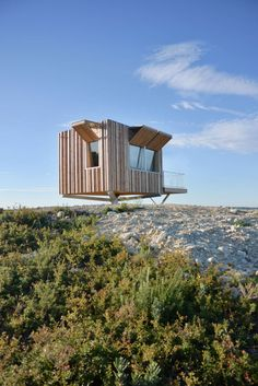 Hang Out in This Chic Fire Tower in The Mediterranean Forest - Architizer