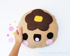 Pancake Plush Kawaii Plushie Cute Stuffed Animal by HappyCosmos