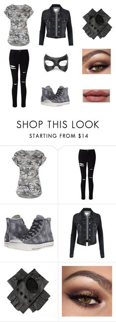 """Silver Wolf #38"" by amykershaw ❤ liked on Polyvore featuring Miss Selfridge, Converse, Masquerade, LE3NO and Black"