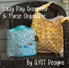 Lazy Day Crossover Bag & Purse Organizer by GYCT