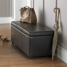Ottoman in entry way