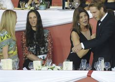 Longines Global Champions Tour of Monte Carlo.  Princess Caroline with her son Andrea, his wife Titiana.