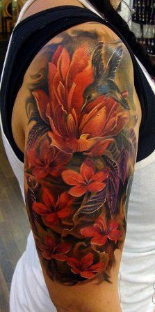 Floral half sleeve *****