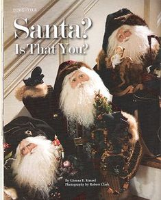 All Things Christmas, Merry Christmas, Christmas Ideas, Original Santa Claus, Santa Doll, Santa Face, Polymer Clay Dolls, Vintage Santas, Father