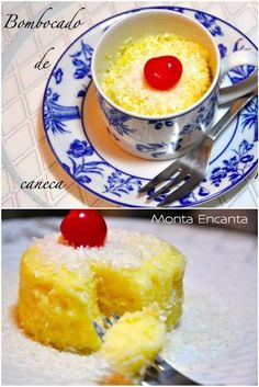 Bombocado de Caneca, receita individual, só para mim, no micro ondas sem sujeira Mug Recipes, Sweets Recipes, Other Recipes, Cake Recipes, Cooking Recipes, Mini Desserts, Delicious Desserts, Good Food, Yummy Food