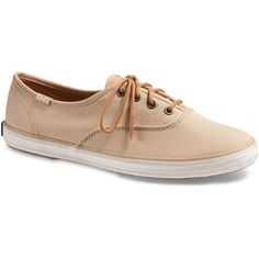 Keds Champion Seasonal Lace Up Sneaker ($42) ❤ liked on Polyvore featuring shoes, sneakers, laced shoes, keds shoes, keds footwear, lacing sneakers and brown shoes