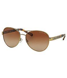 MICHAEL Michael Kors Cagliari Aviator Sunglasses #Dillards
