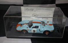 GULF WYER FORD GT40 LE MANS 1968 RODRIGUEZ BIANCHI 1/43 LIMITED BANG MODEL CAR