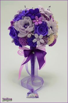 Ukrasni buket od papira MINA - Paper flowers handmade by Vasilissa
