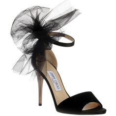 Pre-owned Jimmy Choo Lilyth Velvet Lace Bow 38 Black Sandals (45.640 RUB) ❤ liked on Polyvore featuring shoes, sandals, black, metallic strappy sandals, black sandals, black strappy sandals, high heel sandals and black high heel shoes