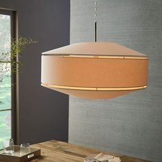 Geo Fabric Shade Pendant - Grand Drum (Polished Nickel/White) | west elm - $199 (less 20% is $159.20) LOVE