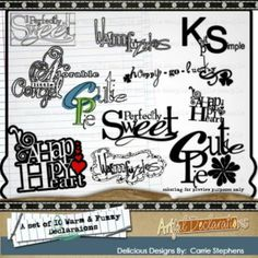 quotes about warm fuzzies | Titles & Quotes for Digital Scrapbooks (Warm, Fuzzy Word Art ...