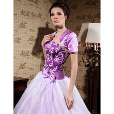 Short Sleeve Satin Special Occasion Jacket/ Wedding Wrap – US$ 29.39.  Comes in Navy!