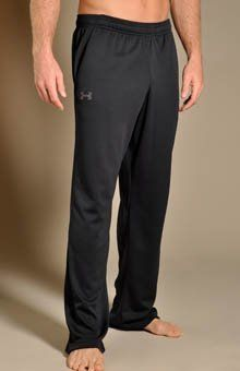 """Men's UA Flex Pants Bottoms by Under Armour Large Black by Under Armour. $33.99. Lightweight, textured mesh fabric breathes for superior airflow. Signature Moisture Transport System wicks sweat away from the body. Covered elastic waistband with internal drawcord provides a secure, comfortable fit. Mesh hand pockets. Inseam length: Size LG 32"""" (+/- 0.5"""" per size). Polyester. Imported."""