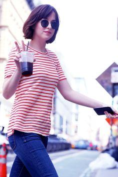 Dakota Johnson on the set of How To Be Single in NY - 26 May 2015