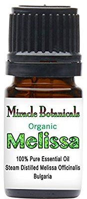 Amazon.com: Miracle Botanicals Organic Bulgarian Melissa (Lemonbalm) Essential Oil - 100% Pure Melissa Officinalis - Therapeutic Grade - 5ml: Health & Personal Care