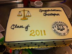 Law School Graduation Cake - design requested by a customer that she found online