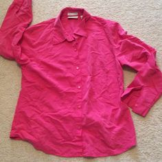 Pink button  down pink top size 12 Bundle and save Liz Claiborne Tops Button Down Shirts