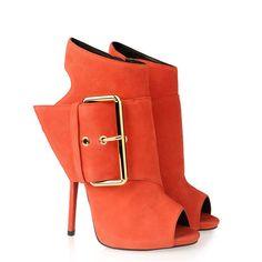 New Arrival Giuseppe Zanotti Calf-skin Leather Boots Orange
