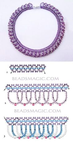 Free pattern for necklace Ireland - Free pattern for necklace Ireland seed beads – seed beads or round beads 3 mm - Diy Necklace Patterns, Seed Bead Patterns, Beaded Jewelry Patterns, Beading Patterns, Mosaic Patterns, Loom Patterns, Painting Patterns, Embroidery Patterns, Stitch Patterns