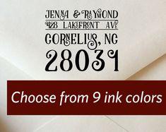 Custom Return Address Stamp Wedding Address Stamp by ladybugnotes
