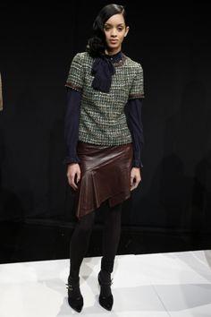 #marissawebb tweed & leather