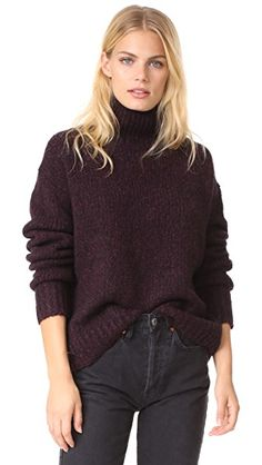 ¡Consigue este tipo de jersey de cuello alto de Vince ahora! Haz clic para ver los detalles. Envíos gratis a toda España. Vince Marled Turtleneck: This oversized Vince turtleneck sweater is composed of luxurious marled wool. Ribbed edges. Long sleeves. Fabric: Marled knit. 80% wool/10% cashmere/10% silk. Hand wash or dry clean. Imported, China. Measurements Length: 22.75in / 58cm, from shoulder Measurements from size S (jersey de cuello alto, turtleneck, turtlenecks, turtle neck, suéter d...