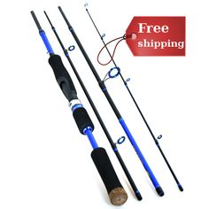 2.1m2.4m2.7m (4-Section, Medium) Carbon Fiber Travel Mate Spinning Rod